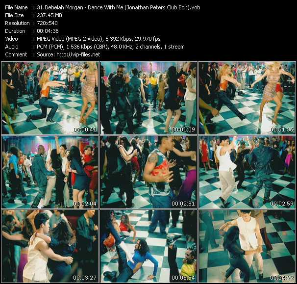 Screenshot of Music Video Debelah Morgan - Dance With Me (Jonathan Peters Club Edit)