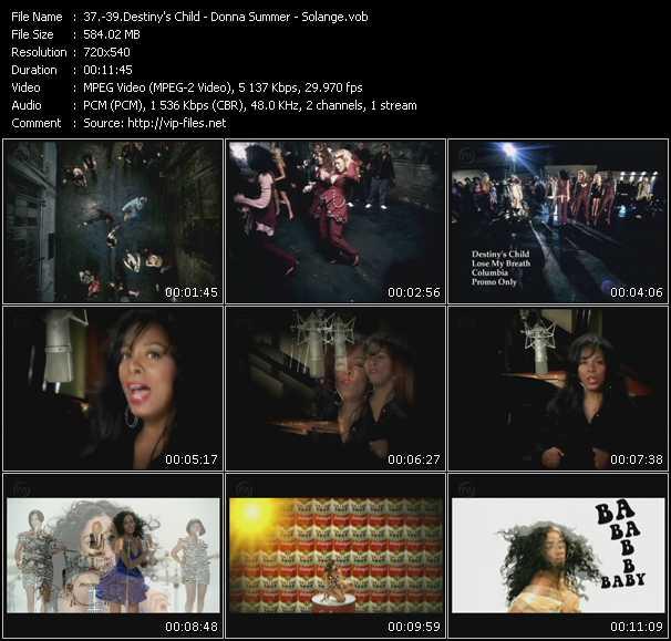 Destiny's Child - Donna Summer - Solange video vob