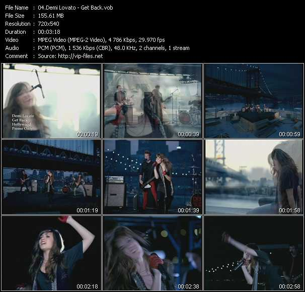 Screenshot of Music Video Demi Lovato - Get Back