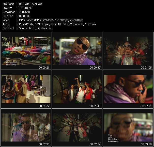 Screenshot of Music Video Tyga - AIM
