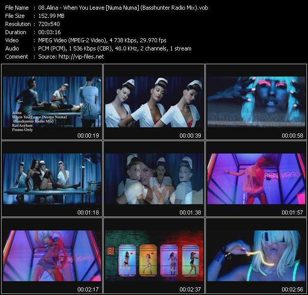 Screenshot of Music Video Alina - When You Leave [Numa Numa] (Basshunter Radio Mix)