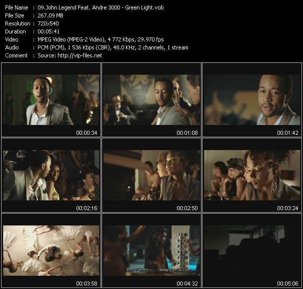 Screenshot of Music Video John Legend Feat. Andre 3000 - Green Light