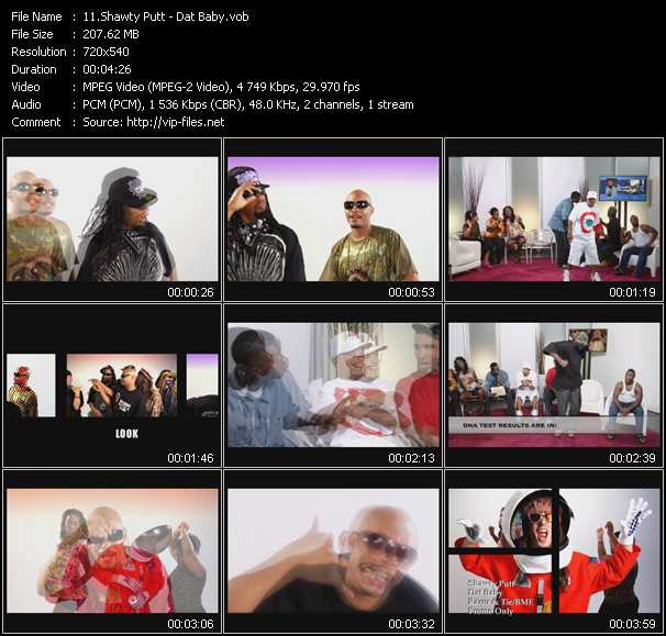 Screenshot of Music Video Shawty Putt - Dat Baby