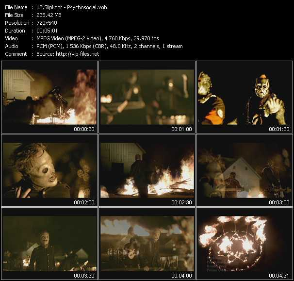 Screenshot of Music Video Slipknot - Psychosocial