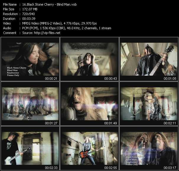 Screenshot of Music Video Black Stone Cherry - Blind Man