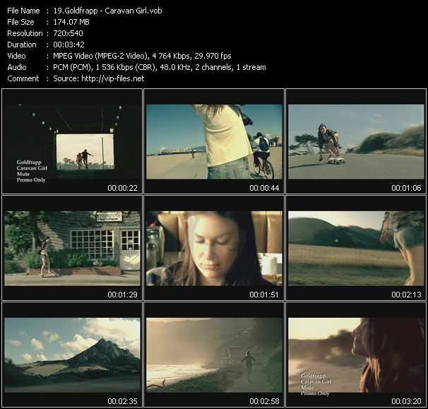 Screenshot of Music Video Goldfrapp - Caravan Girl