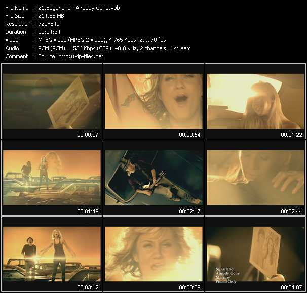 Screenshot of Music Video Sugarland - Already Gone