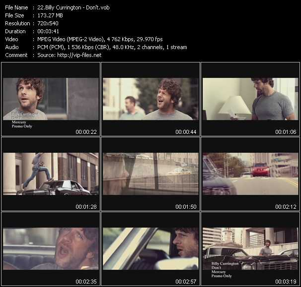 Screenshot of Music Video Billy Currington - Don't