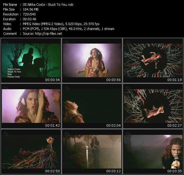 Screenshot of Music Video Nikka Costa - Stuck To You