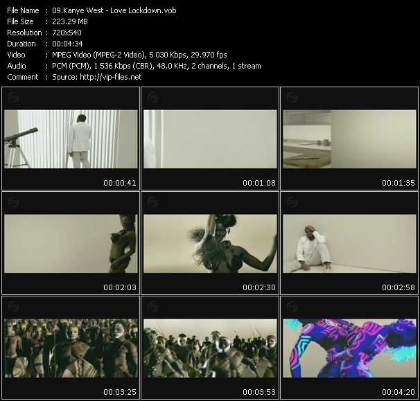 Screenshot of Music Video Kanye West - Love Lockdown