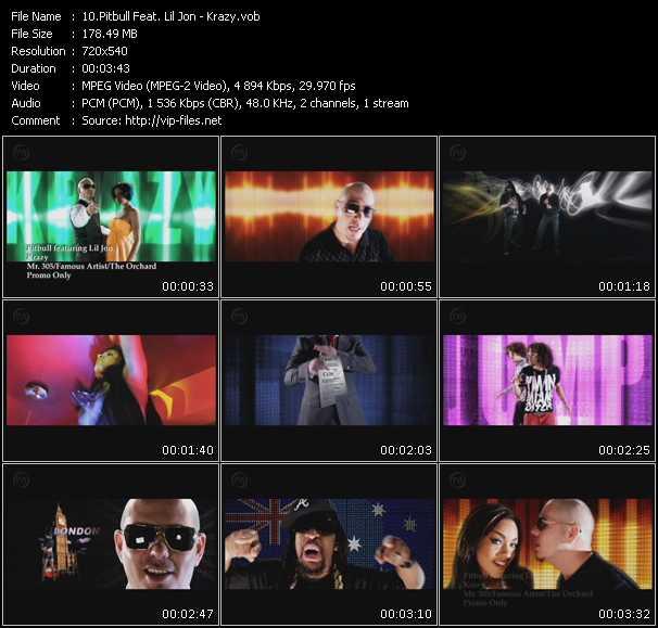Screenshot of Music Video Pitbull Feat. Lil' Jon - Krazy