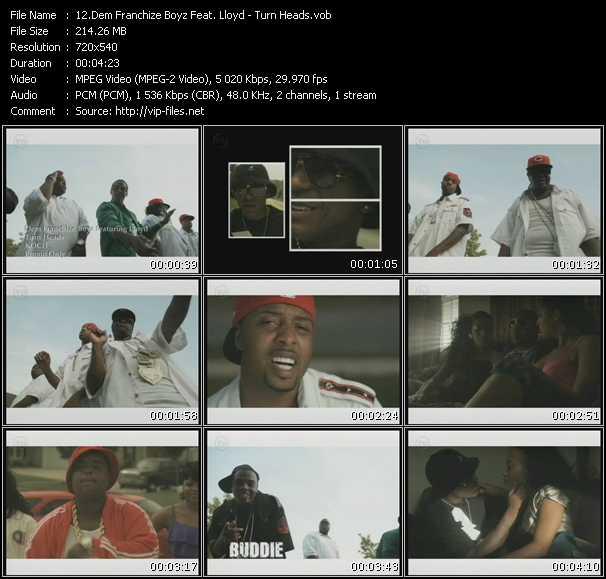Screenshot of Music Video Dem Franchize Boyz Feat. Lloyd - Turn Heads