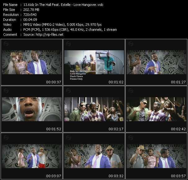 Screenshot of Music Video Kidz In The Hall Feat. Estelle - Love Hangover