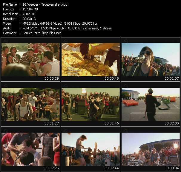 Screenshot of Music Video Weezer - Troublemaker