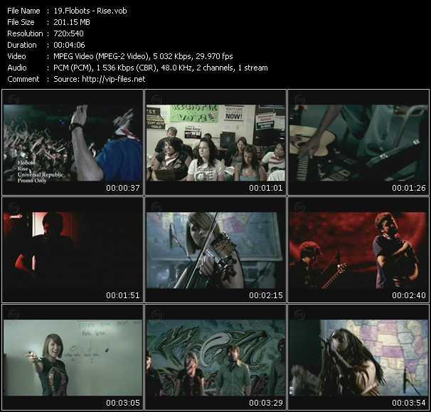 Screenshot of Music Video Flobots - Rise