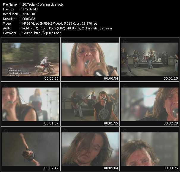 Screenshot of Music Video Tesla - I Wanna Live
