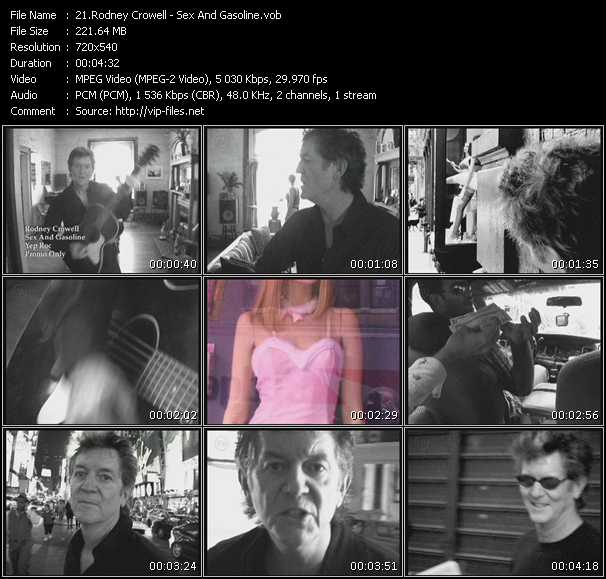 Screenshot of Music Video Rodney Crowell - Sex And Gasoline