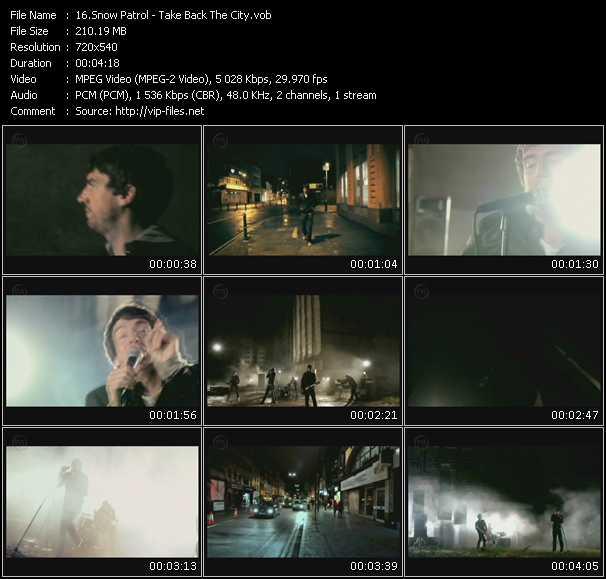 Snow Patrol video vob