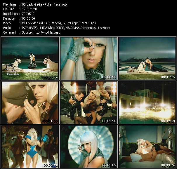 Screenshot of Music Video Lady GaGa - Poker Face