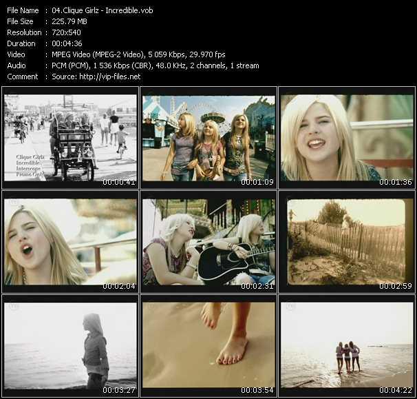 Screenshot of Music Video Clique Girlz - Incredible