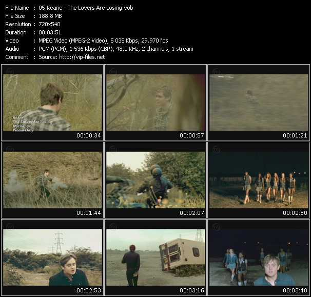 Screenshot of Music Video Keane - The Lovers Are Losing