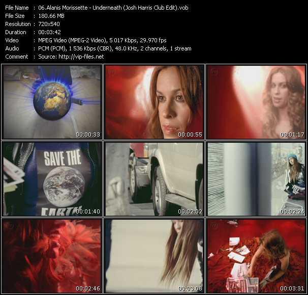 Screenshot of Music Video Alanis Morissette - Underneath (Josh Harris Club Edit)