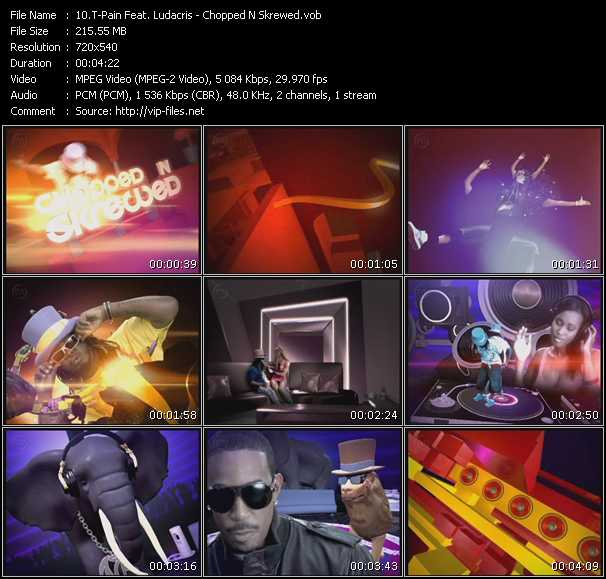 Screenshot of Music Video T-Pain Feat. Ludacris - Chopped N Skrewed