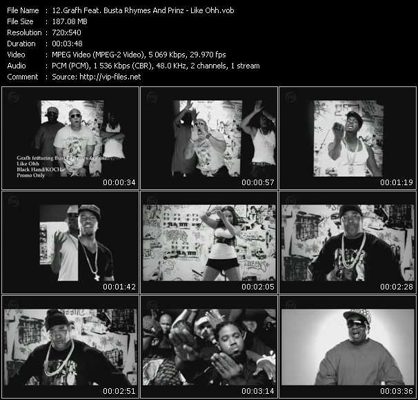 Screenshot of Music Video Grafh Feat. Busta Rhymes And Prinz - Like Ohh