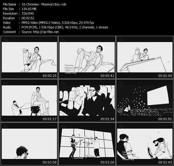 Chromeo video vob