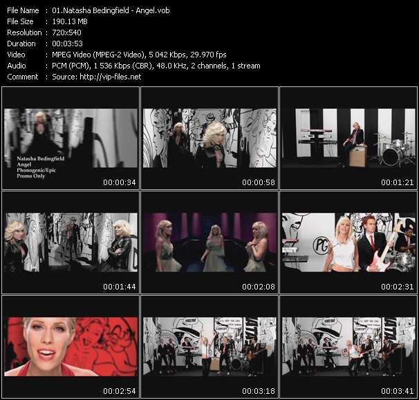 Screenshot of Music Video Natasha Bedingfield - Angel
