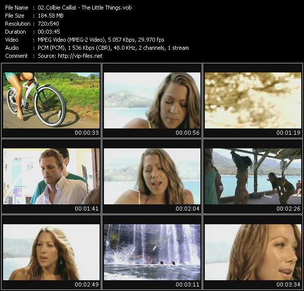 Screenshot of Music Video Colbie Caillat - The Little Things