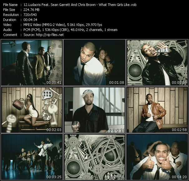 Screenshot of Music Video Ludacris Feat. Sean Garrett And Chris Brown - What Them Girls Like