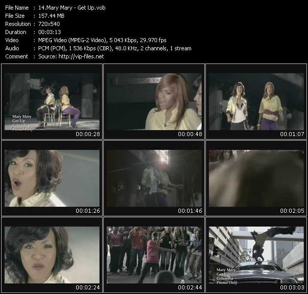 Screenshot of Music Video Mary Mary - Get Up