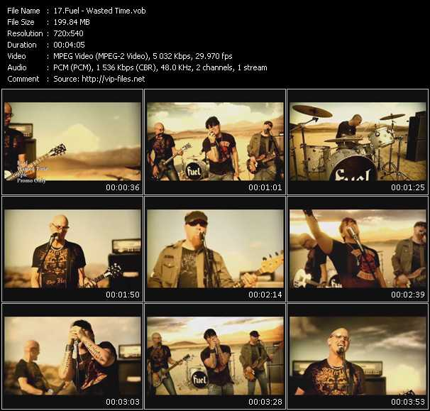 Screenshot of Music Video Fuel - Wasted Time