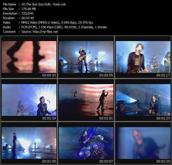 Screenshot of Music Video Goo Goo Dolls - Real