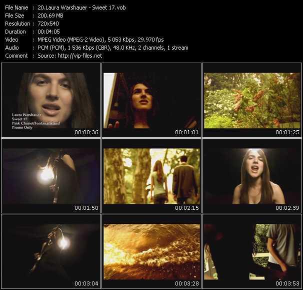 Screenshot of Music Video Laura Warshauer - Sweet 17
