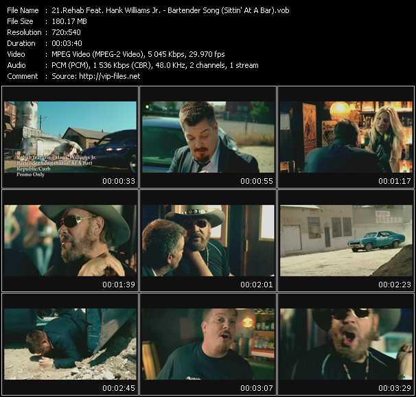Screenshot of Music Video Rehab Feat. Hank Williams Jr. - Bartender Song (Sittin' At A Bar)