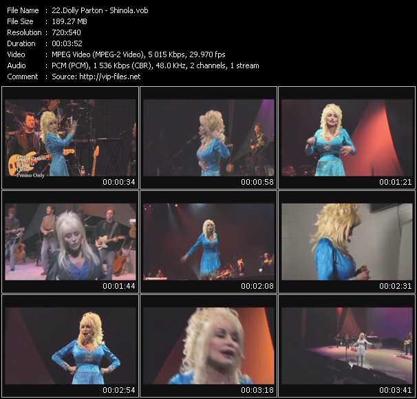 Screenshot of Music Video Dolly Parton - Shinola