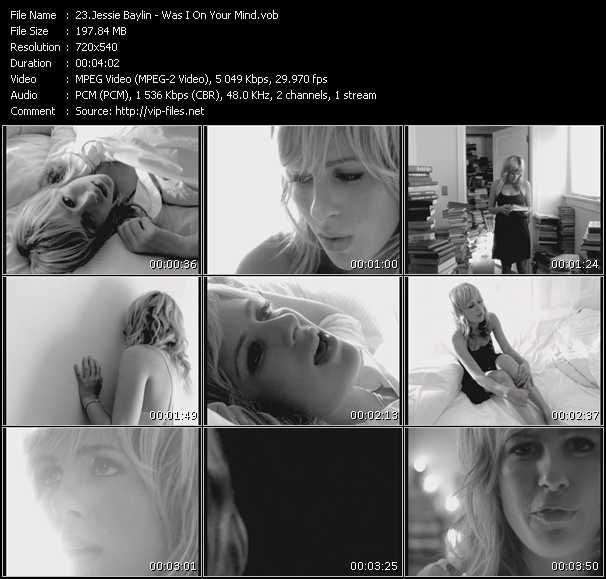 Screenshot of Music Video Jessie Baylin - Was I On Your Mind