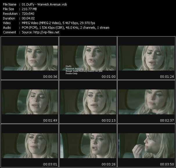 Screenshot of Music Video Duffy - Warwick Avenue