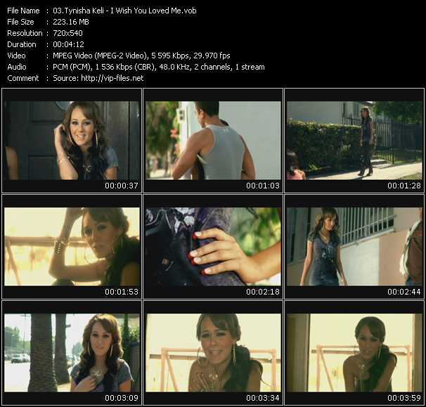 Screenshot of Music Video Tynisha Keli - I Wish You Loved Me