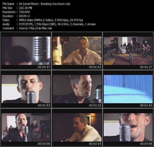 Screenshot of Music Video David Moore - Breaking You Down
