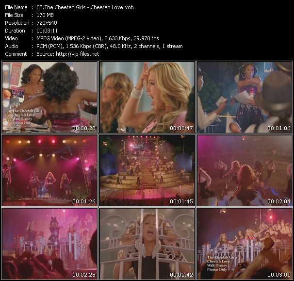 Screenshot of Music Video Cheetah Girls - Cheetah Love