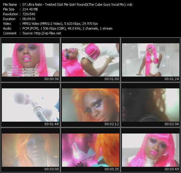 Screenshot of Music Video Ultra Nate - Twisted (Got Me Goin' Round) (The Cube Guys Vocal Mix)