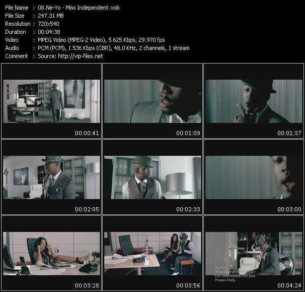 Screenshot of Music Video Ne-Yo - Miss Independent