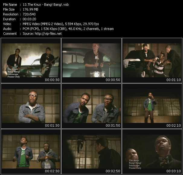 Screenshot of Music Video Knux - Bang! Bang!