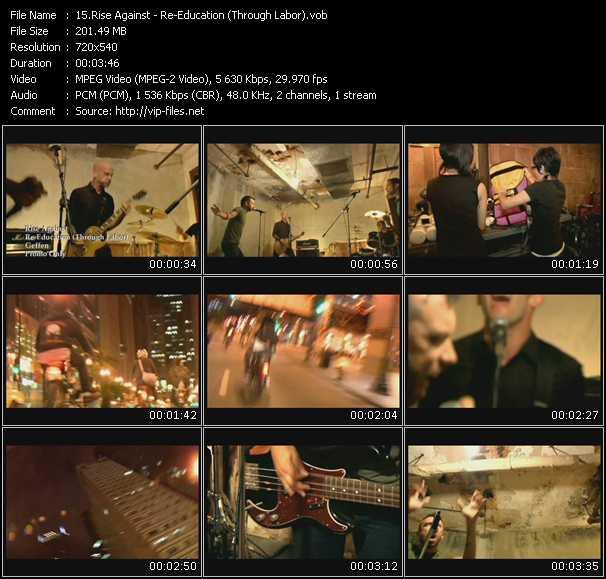 Screenshot of Music Video Rise Against - Re-Education (Through Labor)