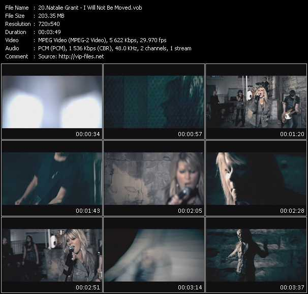 Screenshot of Music Video Natalie Grant - I Will Not Be Moved