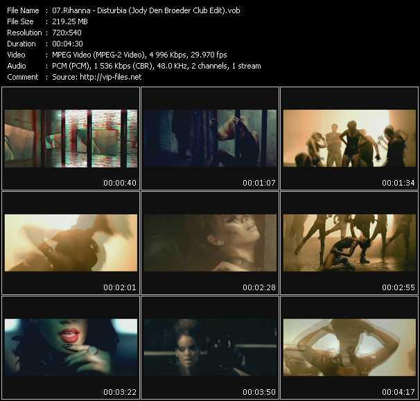 Screenshot of Music Video Rihanna - Disturbia (Jody Den Broeder Club Edit)
