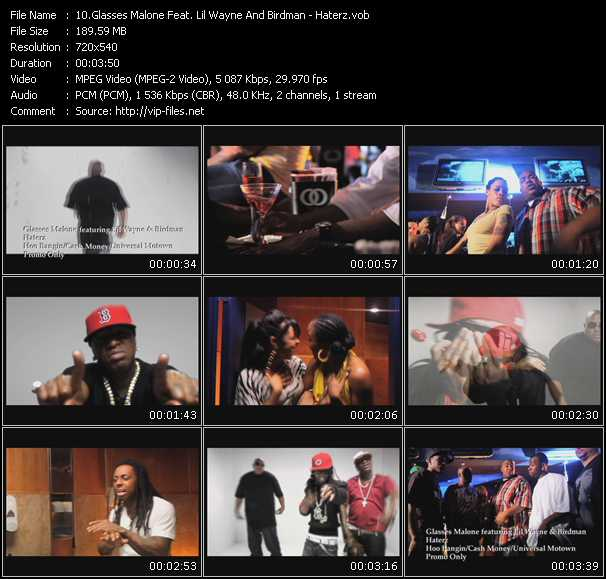 Screenshot of Music Video Glasses Malone Feat. Lil' Wayne And Birdman - Haterz